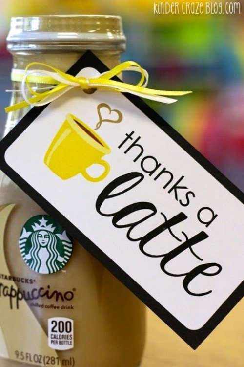 Thanks a latte Starbucks gift for teachers