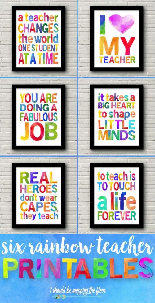 Teacher appreciation posters and gifts